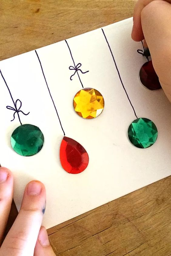 Making Christmas Cards Ideas Part - 39: Gemstones DIY Christmas Card