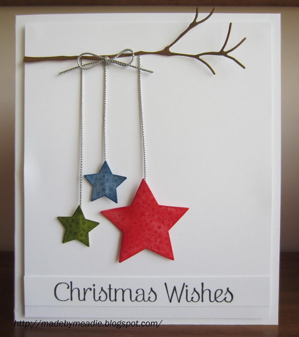 simple christmas card with stars - Christmas Photo Cards Ideas
