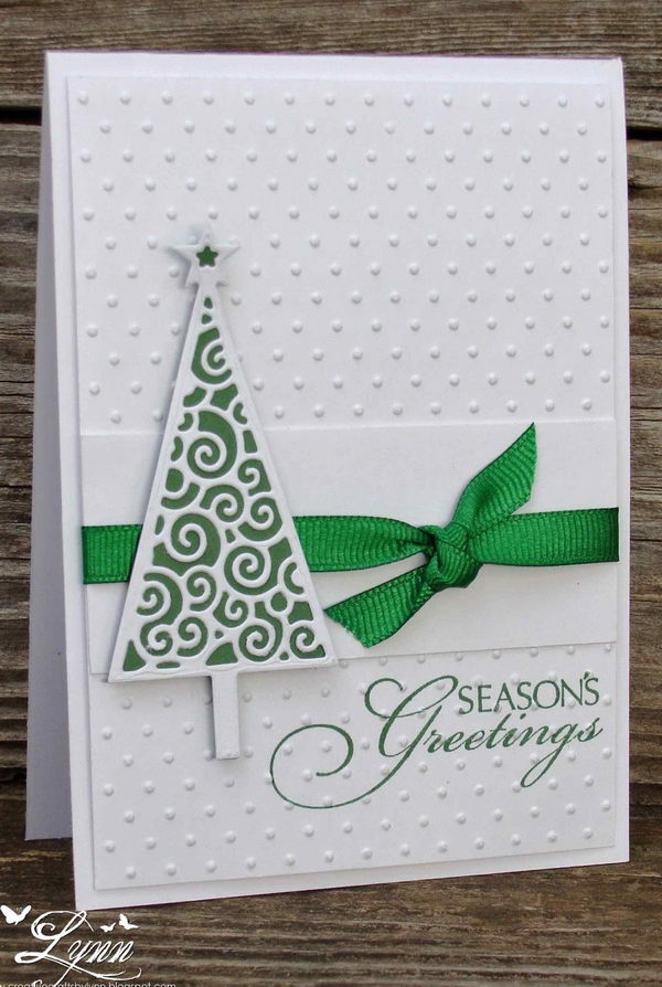 Handmade Clean and Simple Christmas Card.