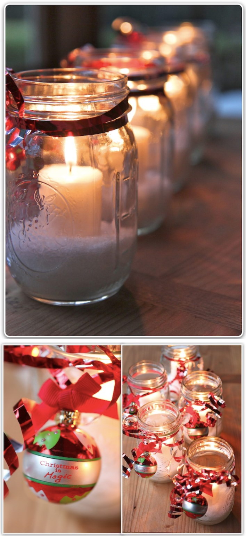 Christmas Mason Jar Candles.