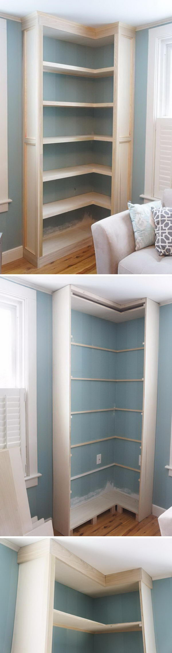 how to build a corner wall