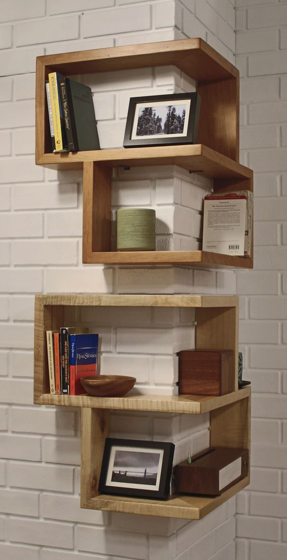 20 DIY Corner Shelves to Beautify Your Awkward Corner 2017 : 16 diy corner shelves from ideastand.com size 564 x 1099 jpeg 70kB
