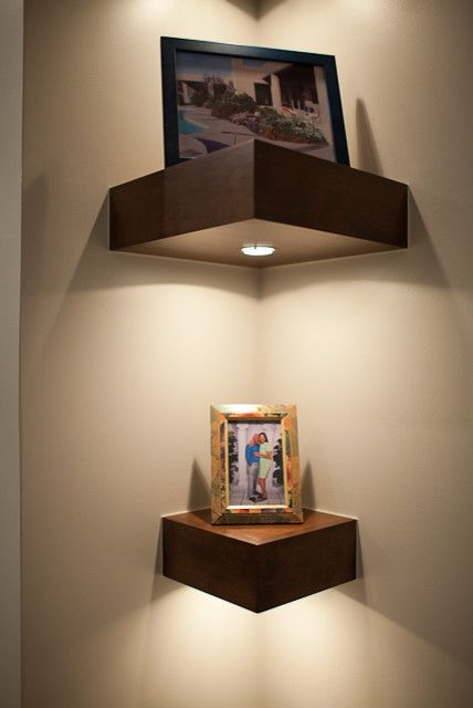Corner Shelf With Light.