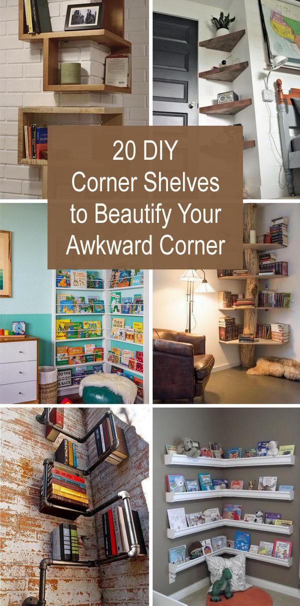 DIY Corner Shelves for 2017.
