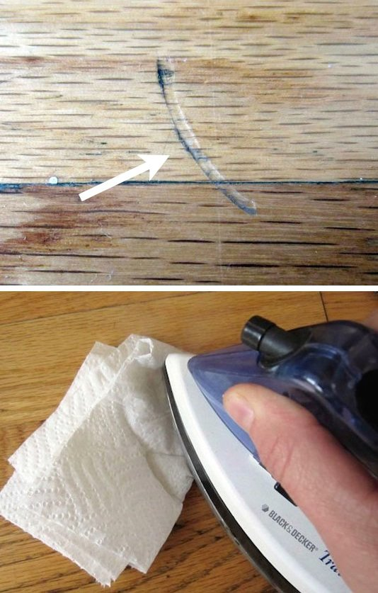 Use an Iron and Paper Towel to Fix Dents in Furniture.