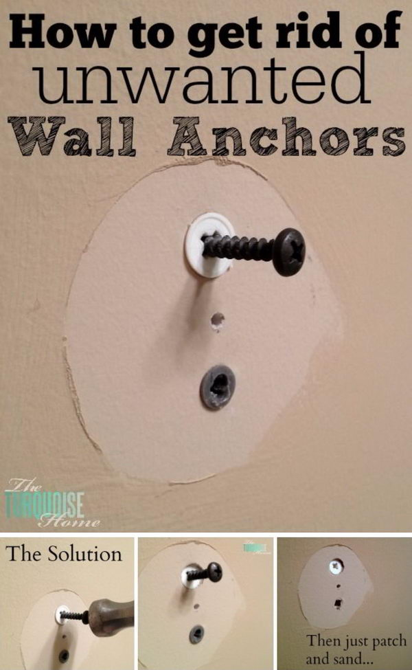 How to Get Rid of Unwanted Wall Anchors.