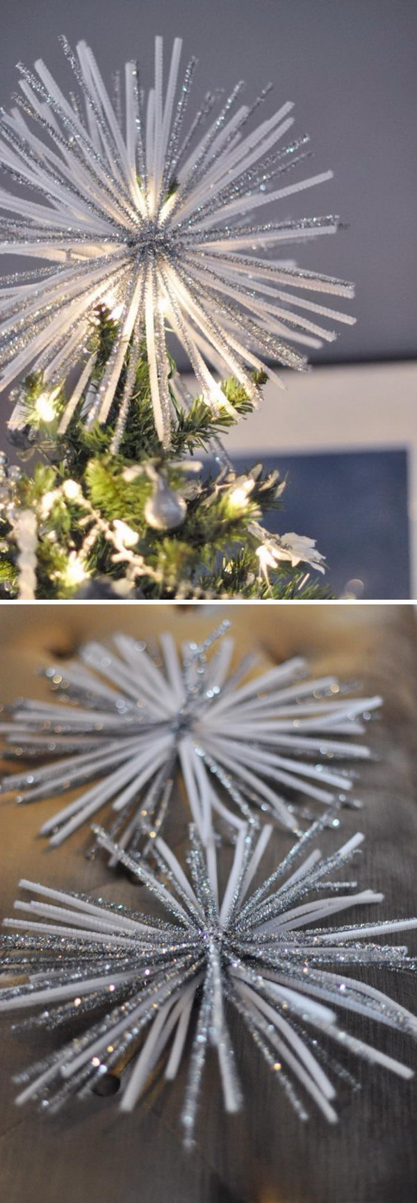 Starburst Tree Topper out of Pipe Cleaners.