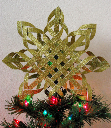 Woven Paper Tree Topper.