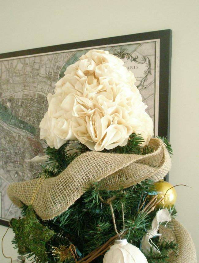 Coffee Filter Tree Topper.