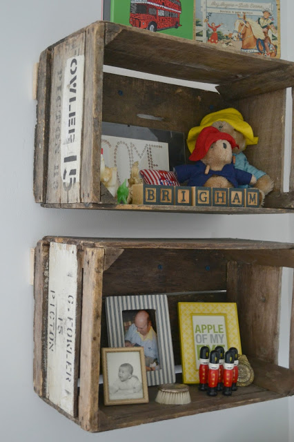 Rustic Crate Shelving Unit.