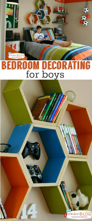 20 cool diy shelf ideas to spruce up your boy 39 s room wall 2017 for Room decor ideas for 12 year old boy