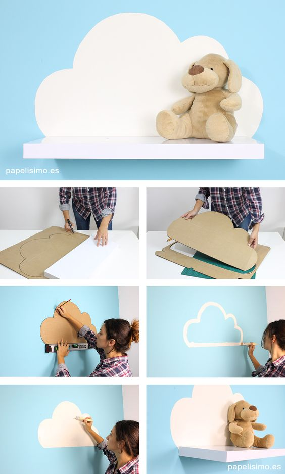 Easy DIY Cloud Shelf.