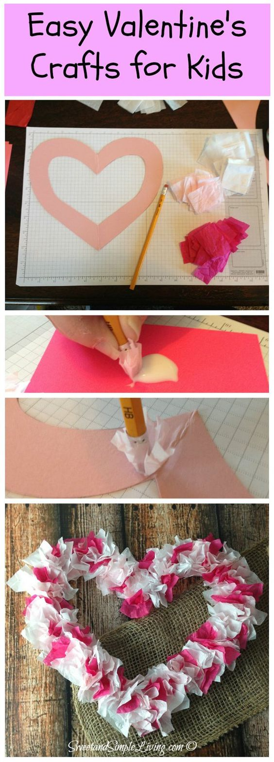 Heart Tissue craft.