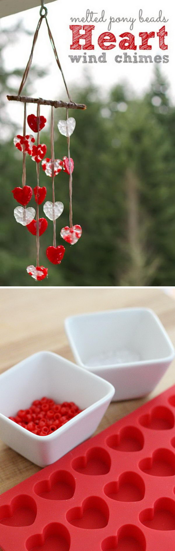 Melted Bead Valentine's DAY Wind Chimes.