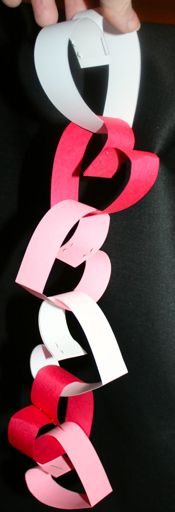 Valentine's Heart Paper Chain.