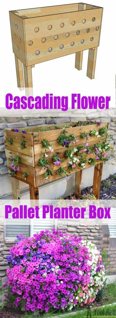 Cascading Flower Pallet Planter Box.