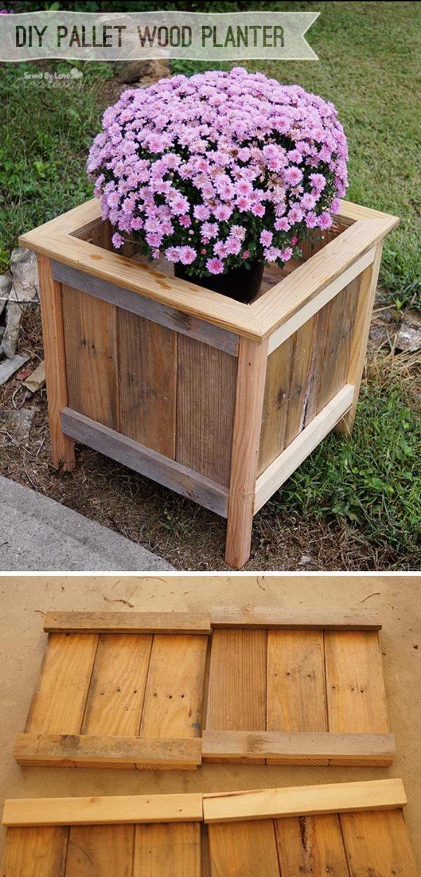 DIY Pallet Planter.