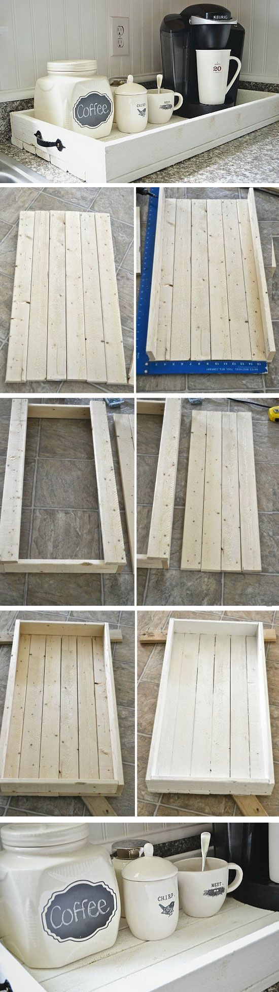 DIY Rustic Wood Tray.