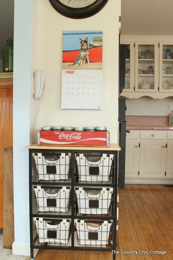 Farmhouse Kitchen Organizer.