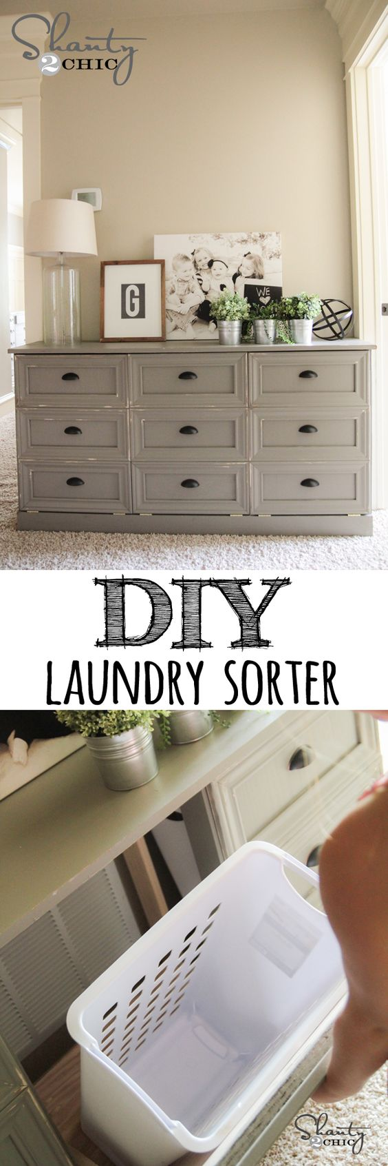 DIY Laundry Basket Dresser.