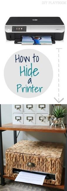 Hidden Printer in a Basket.