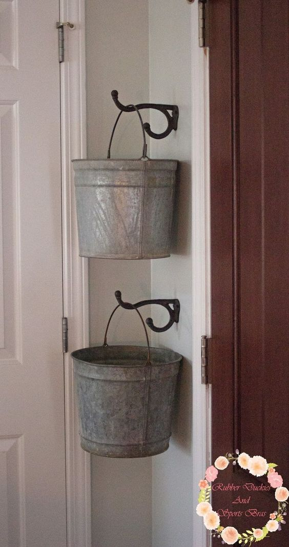 Galvanized Bucket Storage.