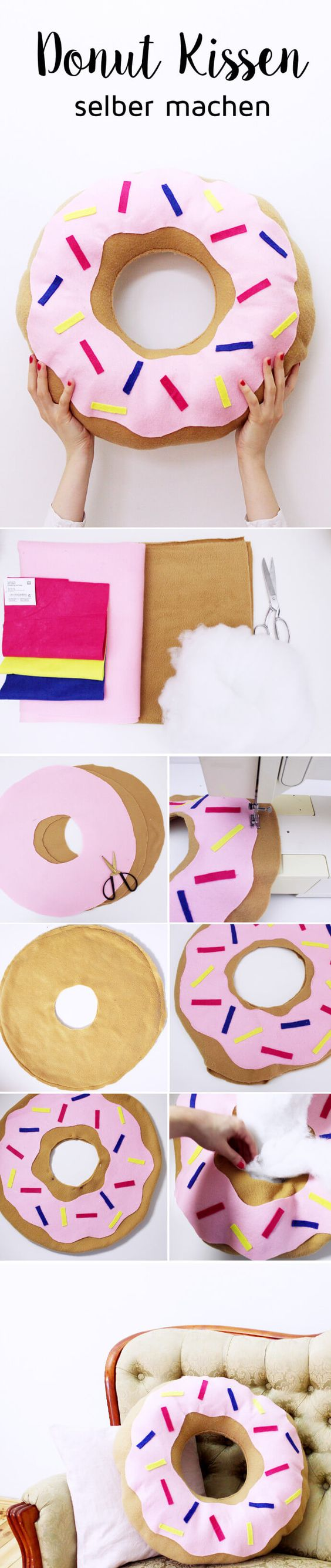 DIY Donut Pillows.