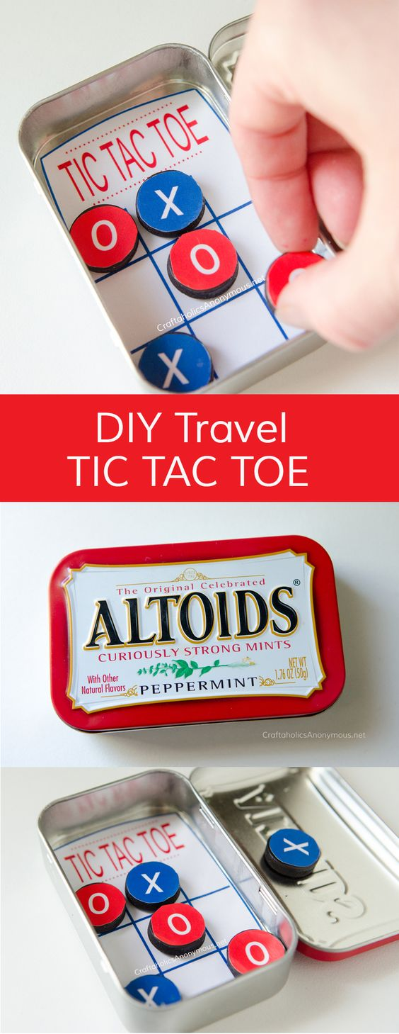 DIY Pocket Tic Tac Toe Made With Altoids Tin.