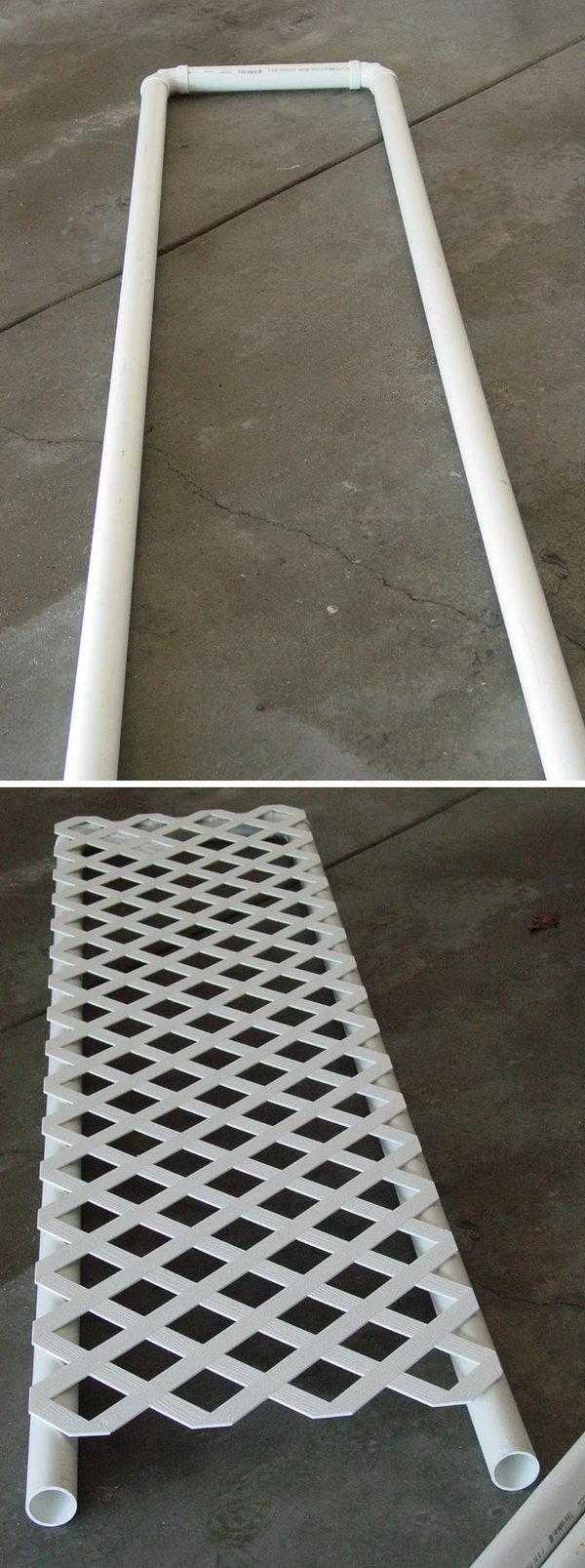DIY PVC Trellis.