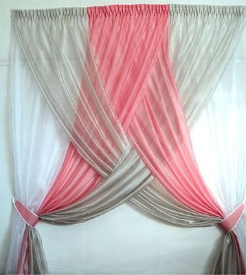 Stylish Curtain For Girl's Bedroom.