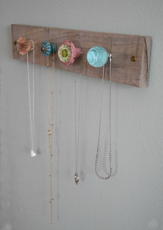 DIY Jewelry Wall Display.