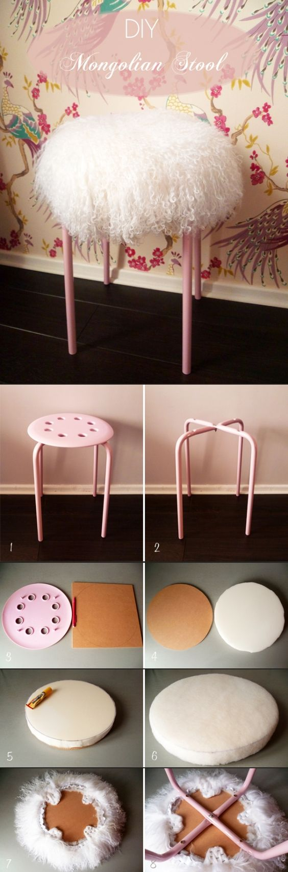 DIY Mongolian Lamb Stool.