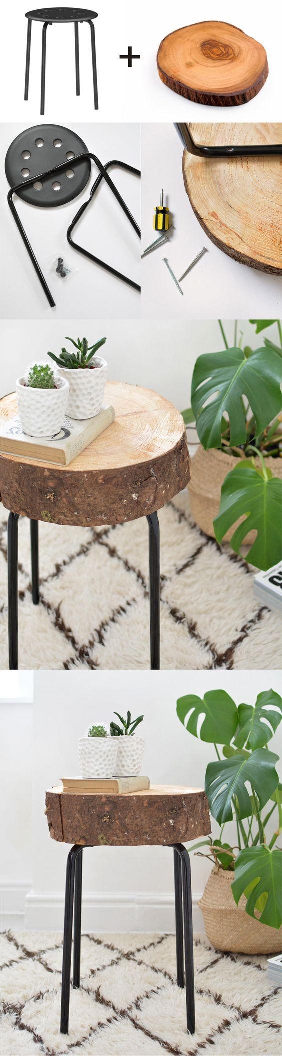 DIY Ikea Hack Wooden Stool.