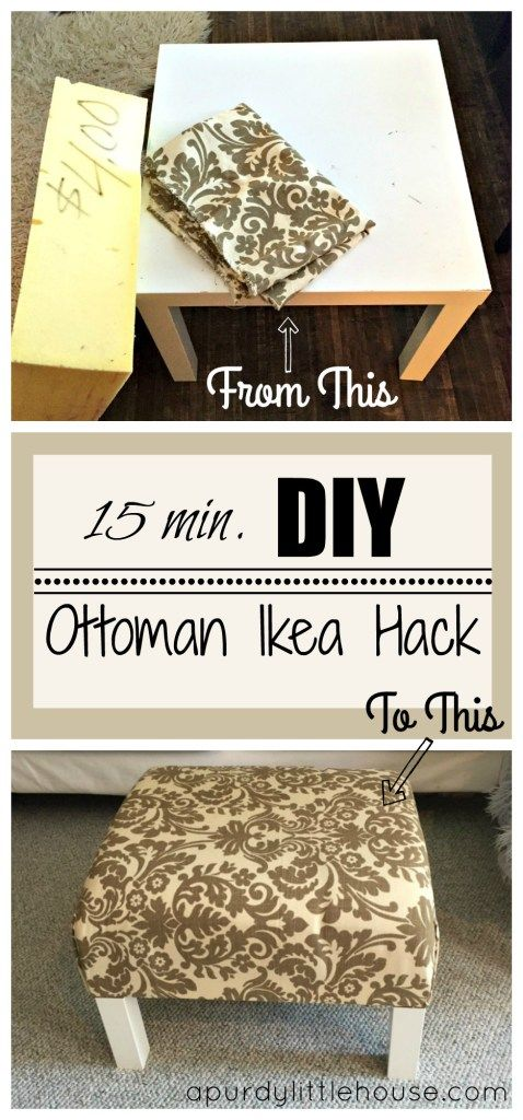 Turn Your Ikea Lack End Table Into A Stylish Ottoman Table.