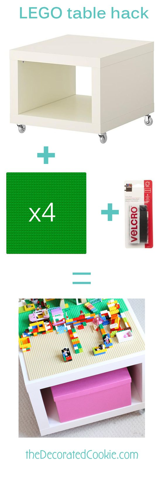 Easy DIY Ikea Hack Lego Table.