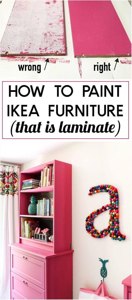 The Trick To Painting Ikea Furniture.