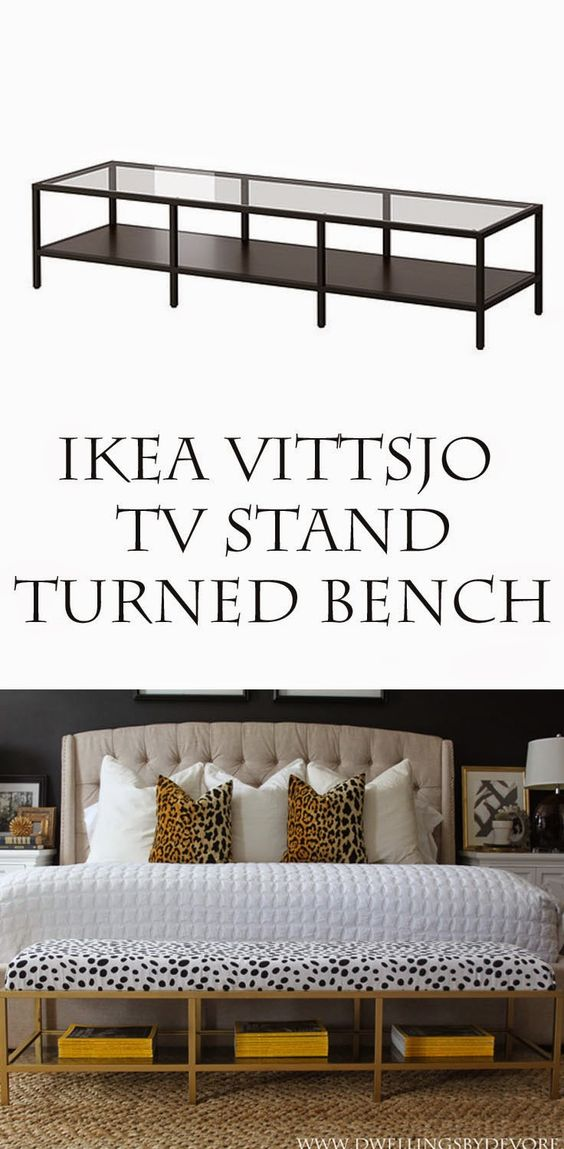 Upholstered Bench From IKEA TV Stand.