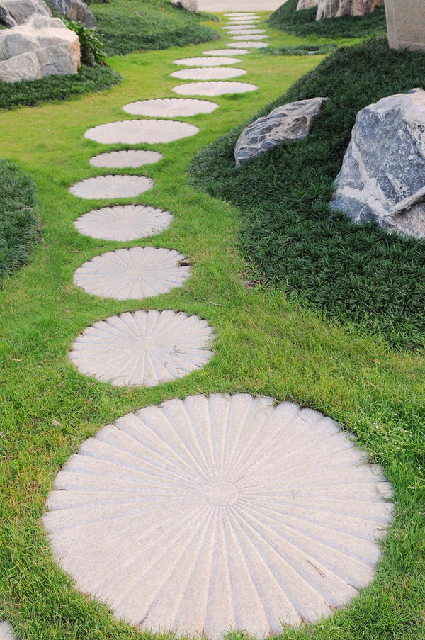 The Curving Stepping Stone Pathway .