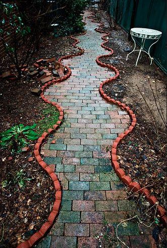 Pretty Brick Pathway.