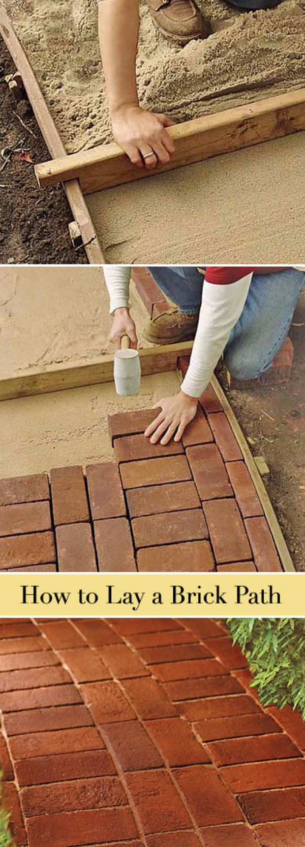 How to Lay a Brick Path.