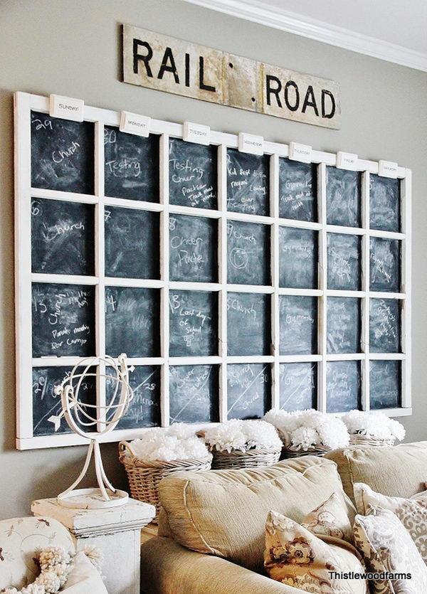 DIY Chalkboard Calendar.