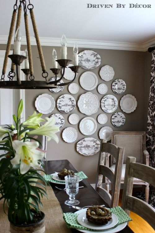 Plates on Wall.