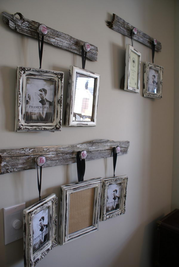 Reclaimed Barn Wood Picture Frame Hangers.