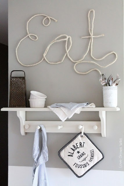 DIY Rope Letters.
