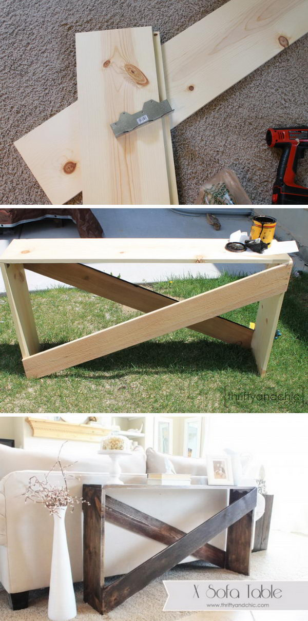 Stylish and Simple DIY Sofa Table.