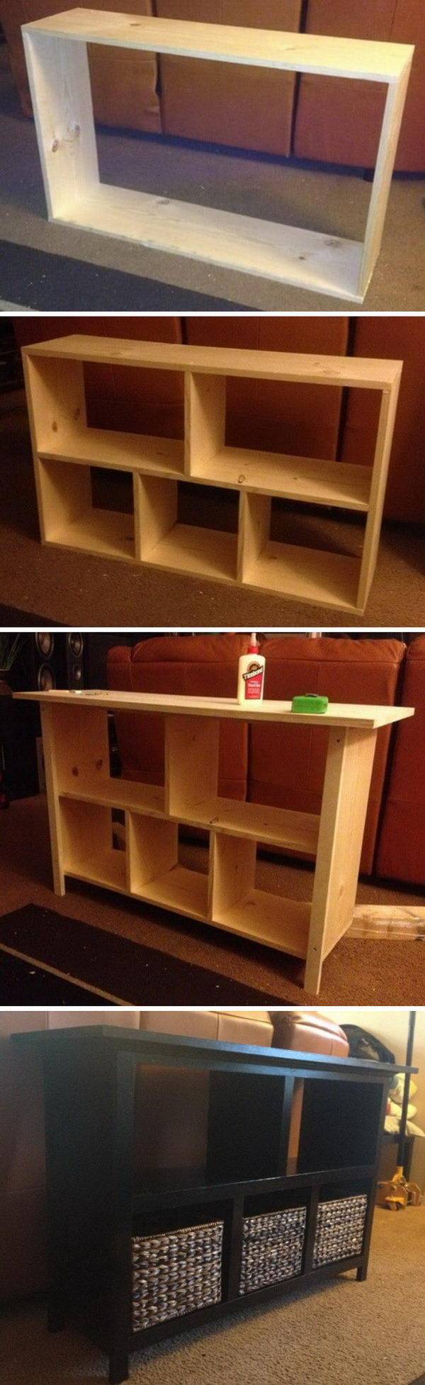 Easy DIY sofa Table.