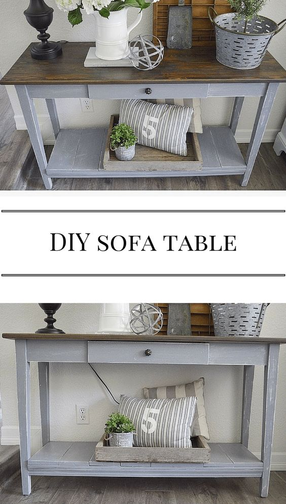Gray Sofa Table.