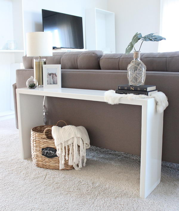 DIY Wood Console Table.