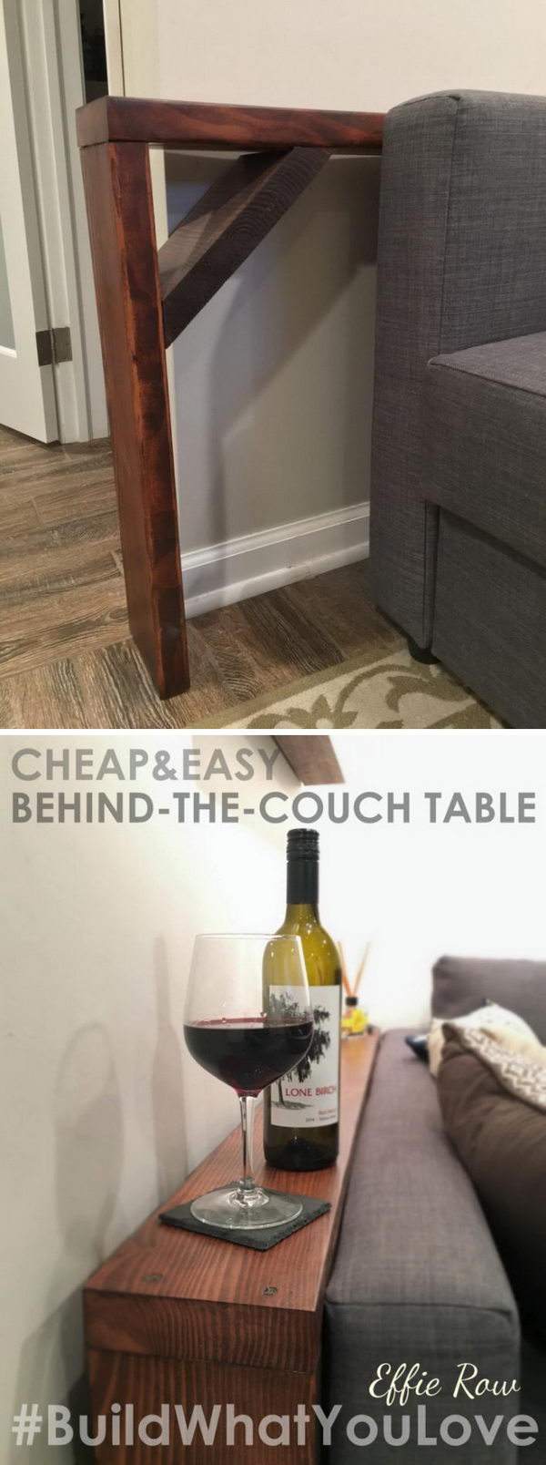 Charmant Easy DIY Behind The Couch Table.