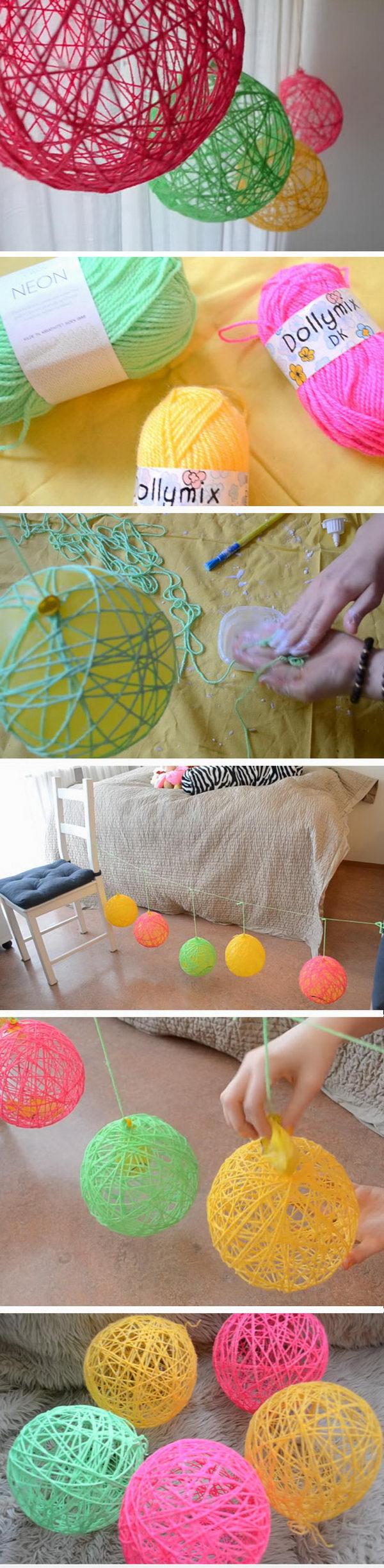 Yarn Ornaments.